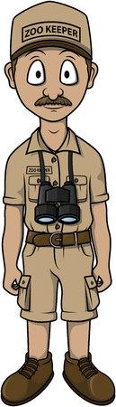 Tierpfleger Mann Cartoon, Illustration, Design