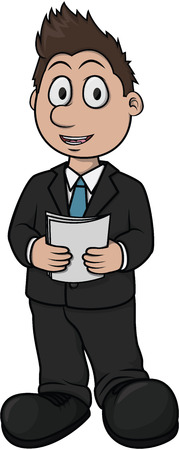 anchorman: Newcaster boy cartoon illustration design