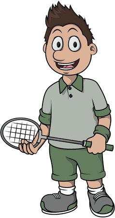 badminton: Badminton player cartoon design
