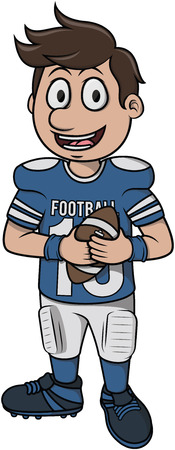 youth sports: American football - Cartoon Illustration