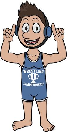 greco: wrestling man costume Illustration