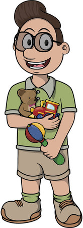 child care: Child care vector cartoon illustration design Illustration