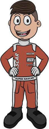 nascar: nascar driver car Illustration