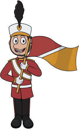 music band: Marching band player cartoon vector illustration