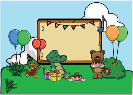 celebration party: Birthday party celebration at park