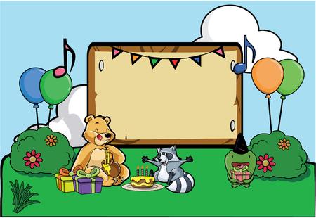 birthday party: Birthday party celebration at park