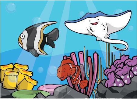 light maldives: Fight fish underwater scenery