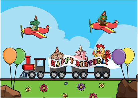 locomotive: Birthday train locomotive