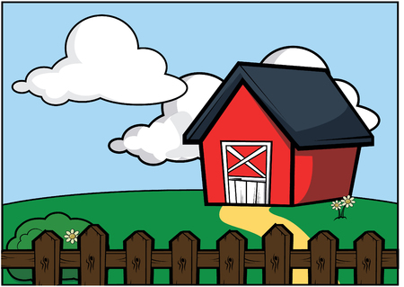 country side: country side farm house scenery Illustration