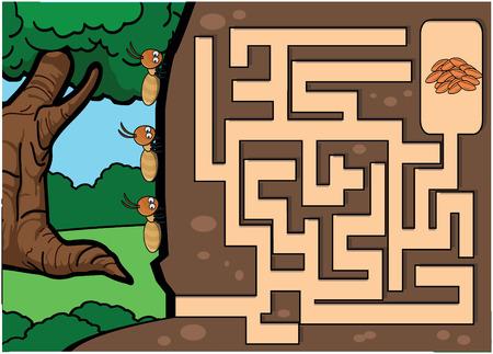 termite: maze termite quiz ant