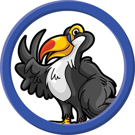 tucan: Toucan bird circle banner