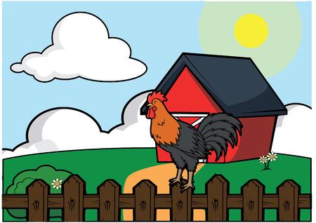 poultry farm: casa de campo de aves de corral