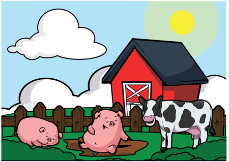 pig with wings: Farm house