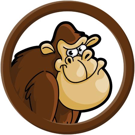 gorila: Gorila circle banner