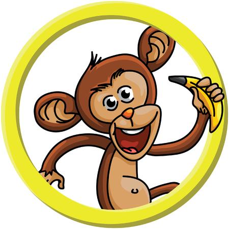 jumping monkeys: Monkey circle banner