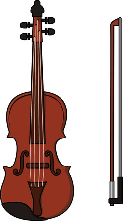 fingerboard: Violin cartoon illustration