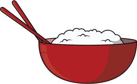 Rice cartoon illustration Vettoriali