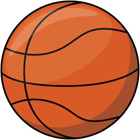 canestro basket: Basket cartone animato palla illustrazione