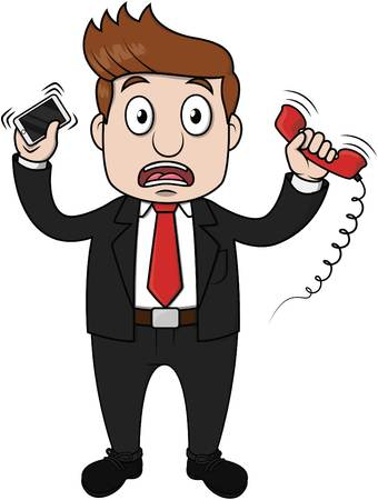 interrupt: Businessman busy contact