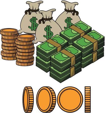 sack: money sack cartoon illustration