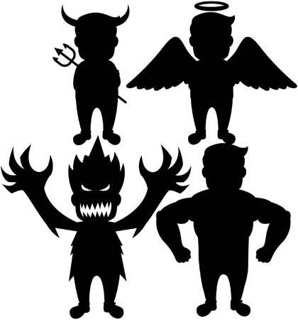 shadow people: Shadow people  cartoon illustration