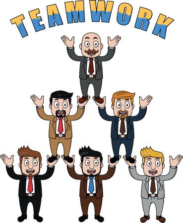 business team: Business man team work