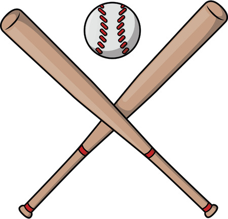 baseball cartoon: Baseball bat cartoon illustration