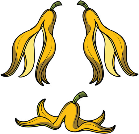 cartoon banana: banana skin