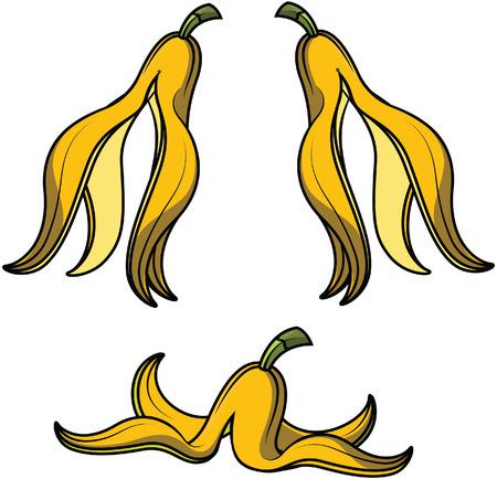 banana caricatura: la piel de plátano