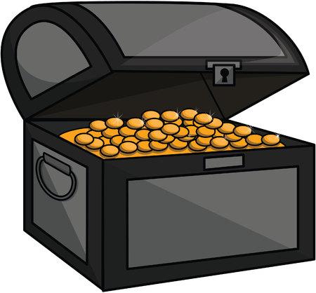 coin box: Treasure golden coin box