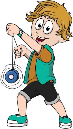 yoyo: Boy playing yoyo