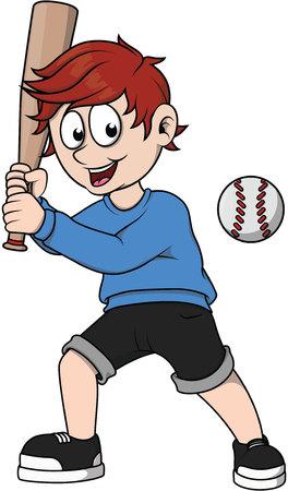 little league: Boy baseball player