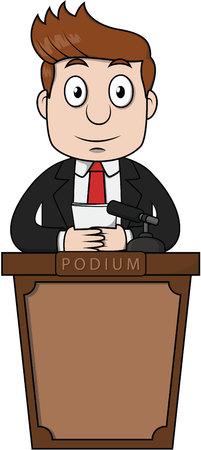Spokesman podium