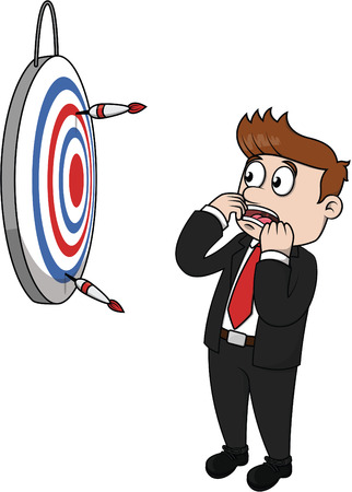 blind man: Business man lost target