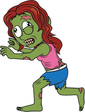lllustration: Zombie girl run