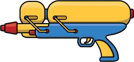 water gun: Water gun cartoon illustration