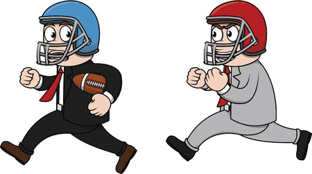 team effort: American Football Employee competition Illustration