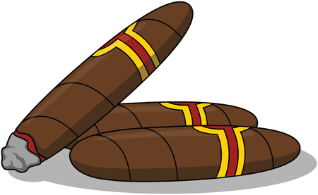 cigars cartoon illustration