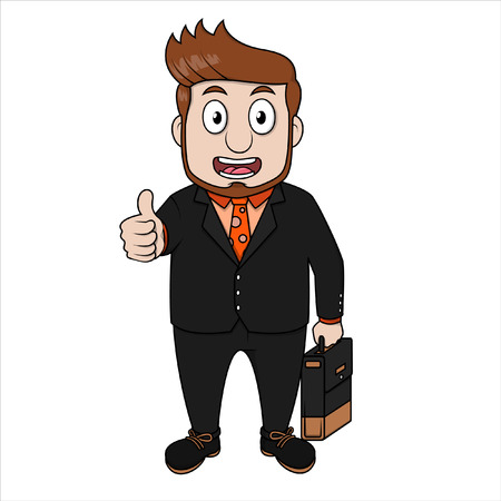 top: Top business man Illustration