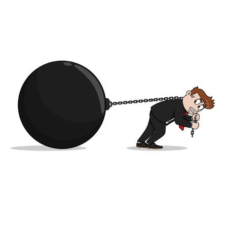 big ball: Big ball business man