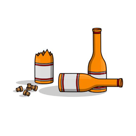 alcoholism: Liquor bottle crash