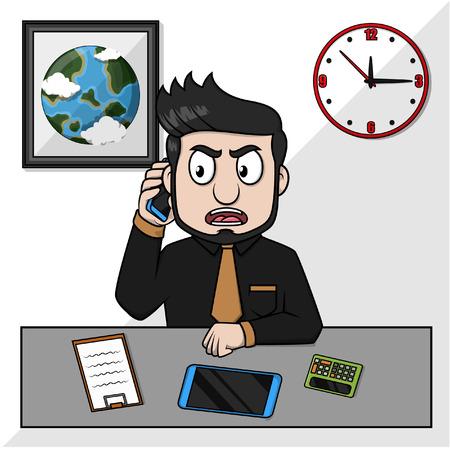 llamando: hombre de negocios que llama cliente de negocios