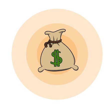 sacks: Sacks of money Illustration