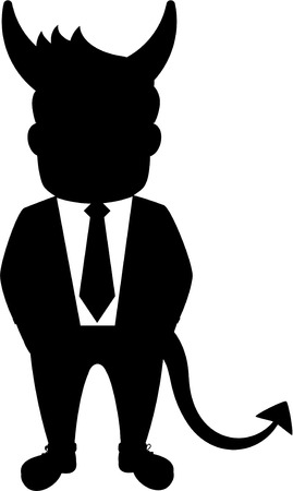 corporate greed: Shadow business man entrepreneur