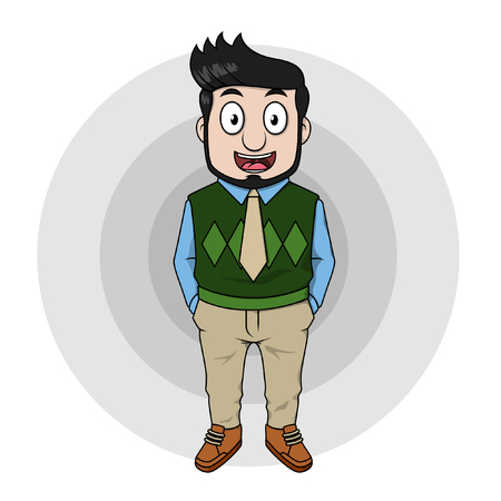 casual: Young business man casual Illustration
