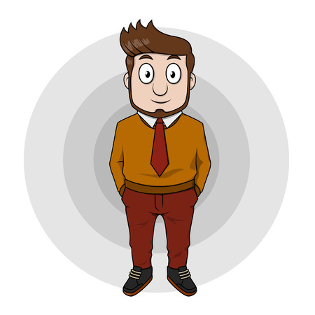 Business man using long sleeve  shirt Illustration