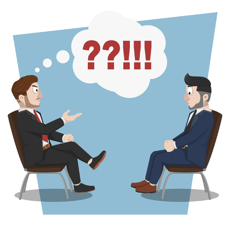 criticism: Business man angry consultation