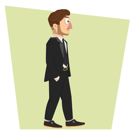 businessman walking: Big boss businessman walking
