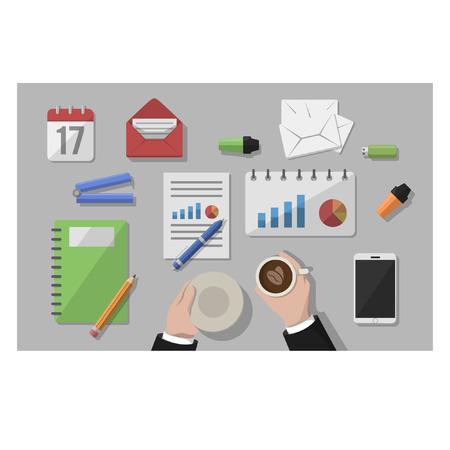 office desk: Business office desk