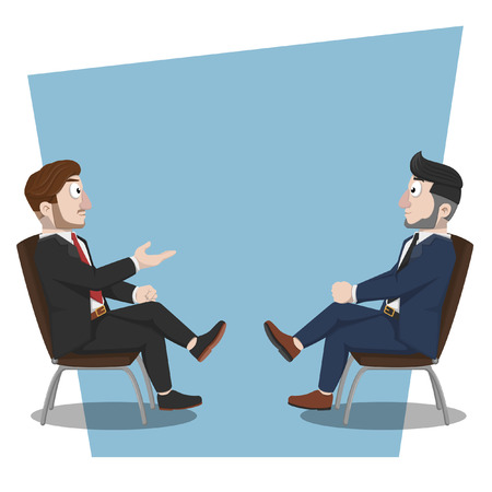 discussion: Business man discussion Illustration